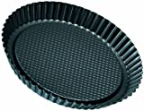 Zenker Black Metallic Stampo Crostata Bordo Scanalato, Acciaio, Nero