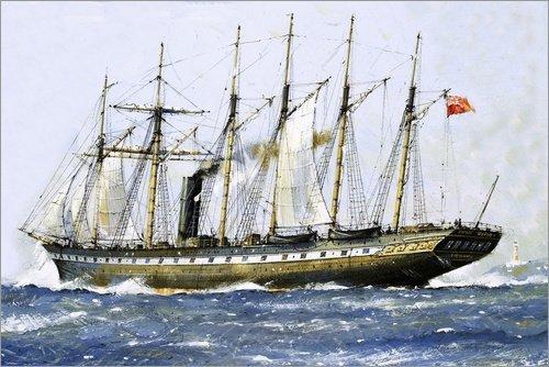 Posterlounge Alu Dibond 30 x 20 cm: Die SS GB von Isambard Kingdom Brunel von John S. Smith/Bridgeman Images