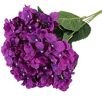 Cdrox 5 Jefes/Ramo Artificial Hortensia Inicio Falso del jardín de Flores Oficina de Bricolaje Flor de la simulación