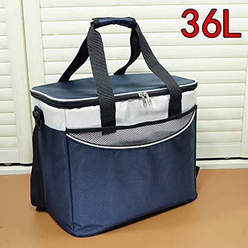 YEXIN 36L (50 Dosen) Soft Cooler Bag Lunch Bag Box, isolierte Reisetasche, Soft-Sided Kühltasche für Strand/Picknick/Camping/BBQ (Color : Navy)