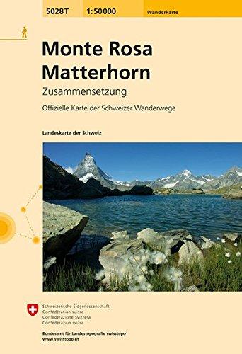 5028T Monte Rosa - Matterhorn Wanderkarte: Zusammensetzung (Wanderkarten 1:50 000 Zusammensetzung) (Monte Rosa)