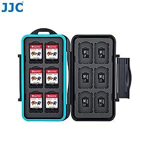 Speicherkarten Schutzbox für 12 x Nintendo Switch Spiele • Memory Card Case • Reisetasche • Schutzhülle • Card Safe • Tasche • Etui für Cartridges • Spiele • Aufbewahrungsbox • Organizer (MC-NSMSD24)
