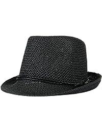 Lukis Kids Summer Straw Fedora Hat Jazz Cap Short Brim Beach Sun Hat 5a0bc6ec5840