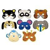 TOYMYTOY 12 Pcs Tiermasken Kinder Halbmasken Party Kindermasken mit Elastischen Seil (Zufällige Muster)