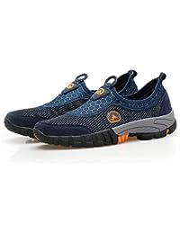 gracosy Sneakers da Uomo Scarpe Slip on in Esecuzione Leggero Sport Maglia  Esterna Sneakers Traspiranti Scarpe cb6def090f2