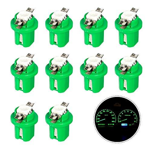 HopeU5® 10x T5 B8.5D 5050 1SMD LED tableau de bord tableau de bord jauge côté vert vif ampoules