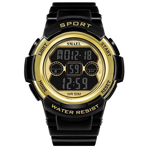 Blisfille Herren Armbanduhr Digital Wasserdicht Digitale Uhr Herrenuhr Schwarz Gold Outdoor Sportuhr Armbanduhr Automatikuhr