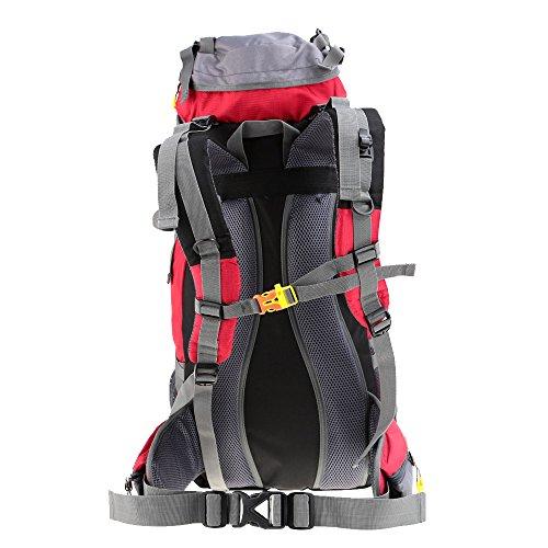 Imagen de lixada   con funda impermeable para deporte, senderismo, trekking, camping, alpinismo y escalada, 45 l + 5 l, rojo alternativa