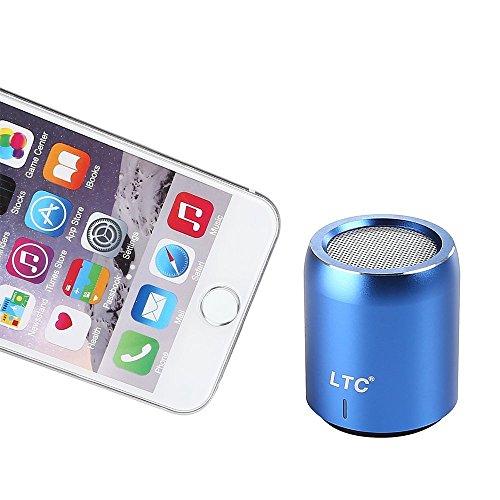 LTC Mini Tragbar Wireless Bluetooth 4.1 Super Bass Stereo HiFi 3.5mm NFC 360 Grad Ton LED CSR-Chip USB WiFi Speaker Lautsprecher MP3 Player Blau