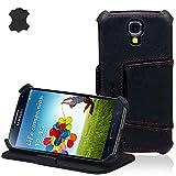 Manna Case Cover - Funda con soporte para Samsung Galaxy S4, negro