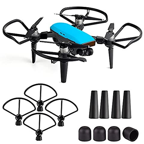 Kuuqa Schutz Zubehör Kits, Propeller Prop Guard mit Fahrwerk Extender Schutz Set und Motor Cap Cover für Dji Spark Drone
