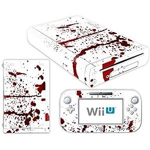 Nintendo Wii U Skin Design Foils Aufkleber Schutzfolie Set – Blood Motiv