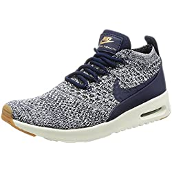 Nike Air Max Thea Ultra Flyknit, Chaussures de Running Femme, Multicolore College Navy/sail, 38 EU