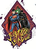 Autocollant mural repositionnable avec lanterne verte de Batman Superman de 17,8 cm - Décoration murale pour murs, ordinateurs portables Yeti Gobelet - 15,2 x 17,8 cm