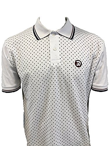 trojan-records-mens-tr-8179-dot-front-pique-polo-shirt-white-xxl