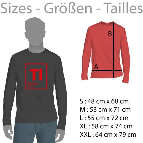 TEXLAB - I like you a not - Herren Langarm T-Shirt Weiß