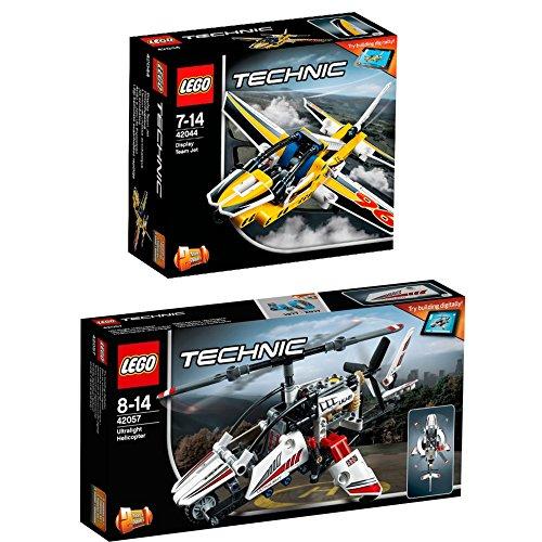 Preisvergleich Produktbild Lego Technic 2er Set 42044 42057 Düsenflugzeug + Ultraleicht-Hubschrauber