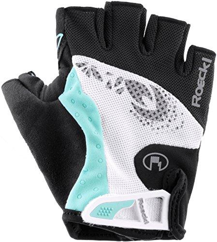 Da ciclismo da donna Roeckl Davilla guanti corti nero/bianco 2015 bianco / nero