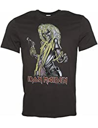 Mens Charcoal Iron Maiden Killers T Shirt from Amplified