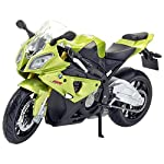 The product in display is an scaled down model of Fresh Metal BMW S1000RR, which is made from metal and is finished in an attractive green color. Apart from the above, this product does not require batteries, is recommended for indoor use by children...