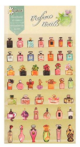 Daisyland Sticker Set 44-tlg. Parfüm Parfümflaschen Flakon Aufkleber Zum Basteln Verzieren Schmücken Dekorieren Scrapbooking Kartengestaltung