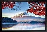 Poster Gießerei Mount Fuji Honshu Island Japan im Herbst