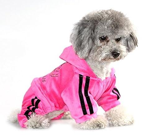 ranphy Kleine Haustier Kleidung weicher Samt Krone Jumpsuit Coat hooide Schlafanzüge Trainingsanzug für Hunde (Astronaut Kleidung)