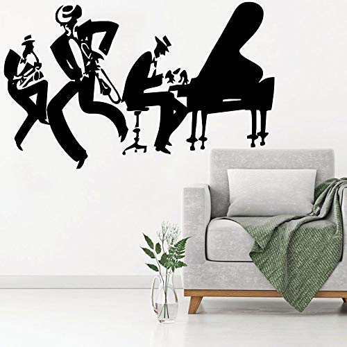 woyaofal Saxofón Piano Jazz Cool Wall Sticker Home Music Decor Sax Instrument Tool Band Modern Wall Murals Poster Quality 42x72cm