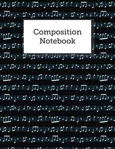 : Blank Sheet Music Staves Manuscript Musician's Notebook, Great For Piano, Guitar, Songwriting, Music Lessons ()