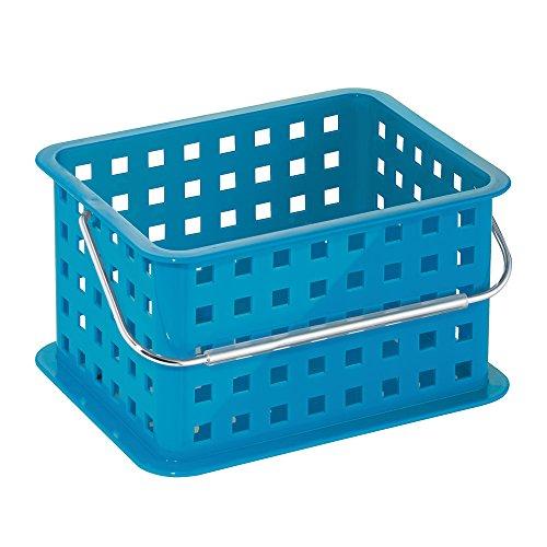 mDesign Caja organizadora perfecta como caja almacenaje para juguetes - También ideal como caja para guardar ropa - Pack de 3 con medidas de 23,5 cm x 17,8 cm x 12,7 cm en color azul