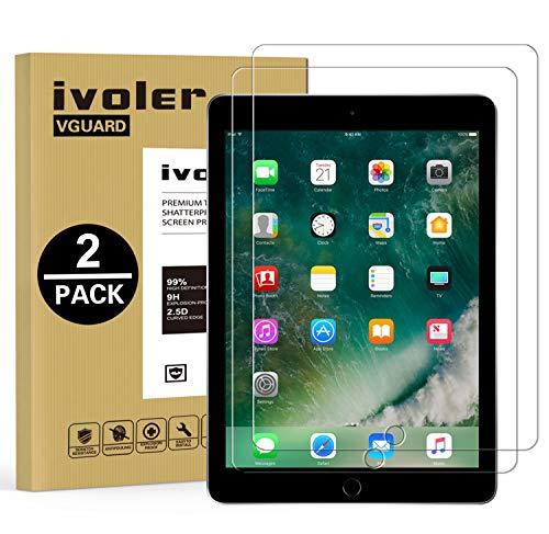 [2 Stück] iVoler Panzerglas Schutzfolie für Neu iPad Air 2019 / iPad Pro 10.5 Zoll, 9H Härte, Anti- Kratzer, Bläschenfrei, 2.5D R&e Kante