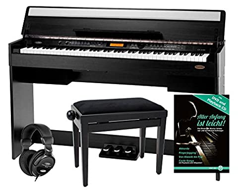 Classic Cantabile CP-A 320 SM piano numérique noir mat SET, y compris la banquette et le casque