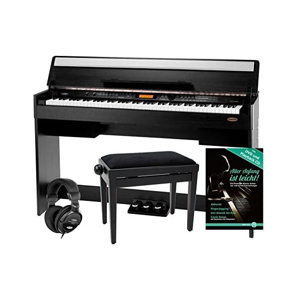 88-Tasten Digital Piano E-Piano Keyboard Klavier USB Bank Kopfhörer Schule SM