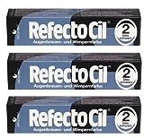 3er Set: Refectocil Augenbrauen & Wimpernfarbe 2 blauschwarz 15ml