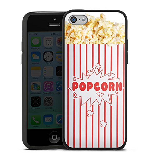 Slim Case Silikon Hülle Ultra Dünn Schutzhülle für Apple iPhone 5c Popcorn Kino Design - 5c Case-kino Iphone