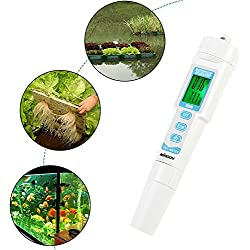 KKmoon 3-in-1 Multi-parámetro calidad del agua con comprobador de tipo bolígrafo pH y CE y temperatura medidor calidad del agua con dispositivo análisis Acidometer