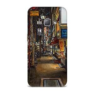 Samsung J1 2016 Case, Samsung J1 2016 Hard Protective SLIM Cover [Shock Resistant Hard Back Cover Case] for Samsung J1 2016 -Urban drawing