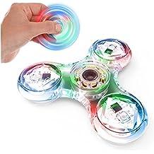 Cizzy fidget toys,spinner fidget toys The Anti-Anxiety 360 Spinner Premium Quality EDC Focus Toy - Réducteur de stress soulage l'anxiété du ADHD avec 3x LED.