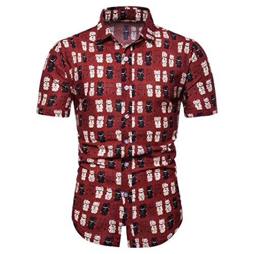 EERTX - ♛100% Leinen Hemden Herren♛/Männer Henley Freizeithemd Leinenhemd aus Baumwollmischung Kariert Casual T-ShirtKnopfleiste in weiß schwarz Navy blau Slim fit für - Dorothy Kostüm Haar