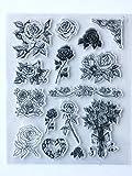 MaGuo Bouquets Rosen Kranz Transparente Stempel für Grußkarten Dekoration und DIY Scrapbooking