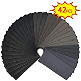 SunTop Papel De Lija 42 piezas, grano surtido de 120 a 3000