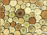 Unbekannt 100 Verschiedene Baumscheiben Holzscheiben 4-7 cm Glatter, ebener Schnitt