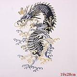 DaoRier Chinesische Art Drachen Aufbügler Applikation Stickerei Aufkleber DIY Bestickte Aufnäher für Kleidung Jeans