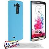 Muzzano F430164 - Funda para LG G3, incluye 3 protectores de pantalla, color azul lago