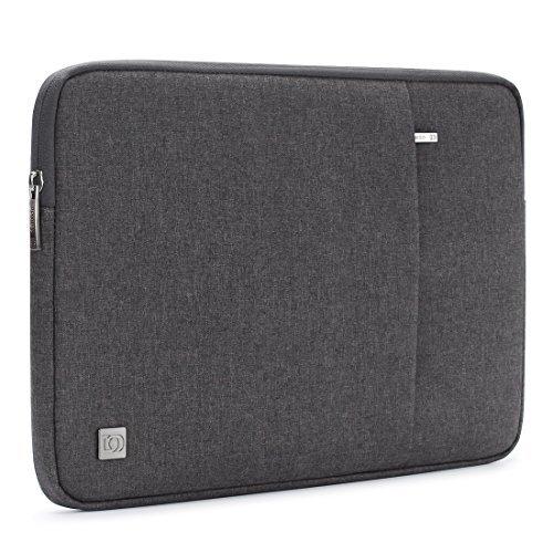 "DOMISO 14\"" Laptop Sleeve Vertikalen Stil Wasserabweisend Laptop Sleeve Case Bag Hülle Schutzhülle Notebook Tasche Schutzabdeckung für 14 Zoll Notebook Computer Ultrabook (dunkelgrau)"