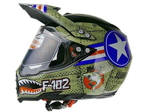 Woljay Off Road Helm Motocross-Helm Motorradhelm Motocrosshelme Fahrrad ATV (XXL)