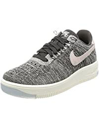 sports shoes 66d11 8cafb Nike Air Force 1 Flyknit Low Gris Rosa