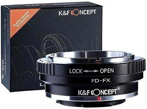 K&F Concept FD-FX Objektiv Adapter Fuji X-Mount FX x-Series Kamera Bajonett x Canon FD