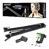 Neewer® Bras Support de Suspension Microphone Micro Forme Ciseaux Comprend : (1)Microphone ciseaux bras support+(1) Tableau montage pince+(1) Microphone Clip