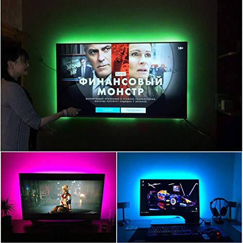 Voiks TV Backlight Bias HDTV USB Powered RGB Multi Color Led Strip...